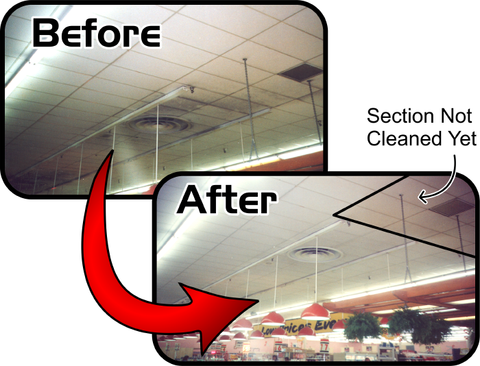 Acoustic Tile Cleaning Services Company in Raleigh NC delivering Acoustic Tile Cleaning Services work